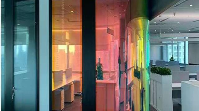 办公室玻璃装饰贴膜及炫彩膜